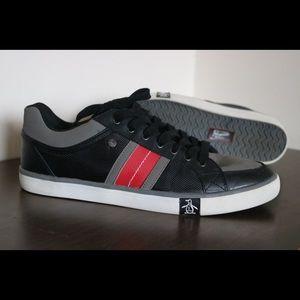 Original Penguin court shoes 11.5 blue red sneaker